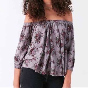 UO Truly Madly Deeply Off Shoulder Bardot Top XS